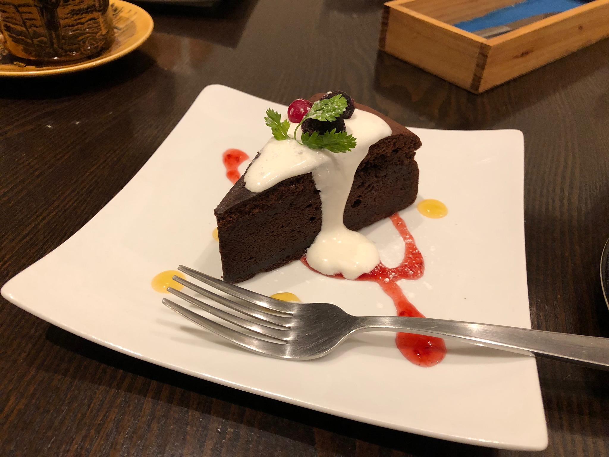 前回のチョコレートケーキ